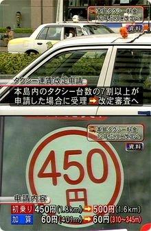 料金 改定 タクシー