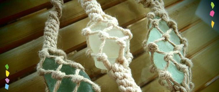 コットン(タコ糸)で編むマリンアクセサリー教室