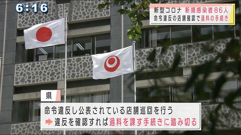 沖縄県の新型コロナ新規感染者数は86人