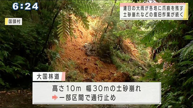 大雨続き県内各地で土砂崩れ相次ぐ