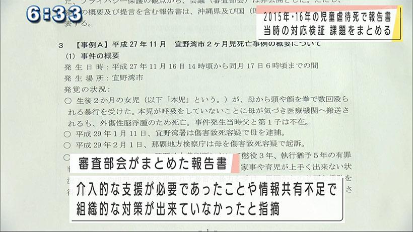 宜野湾市児童虐待死の報告書を手交