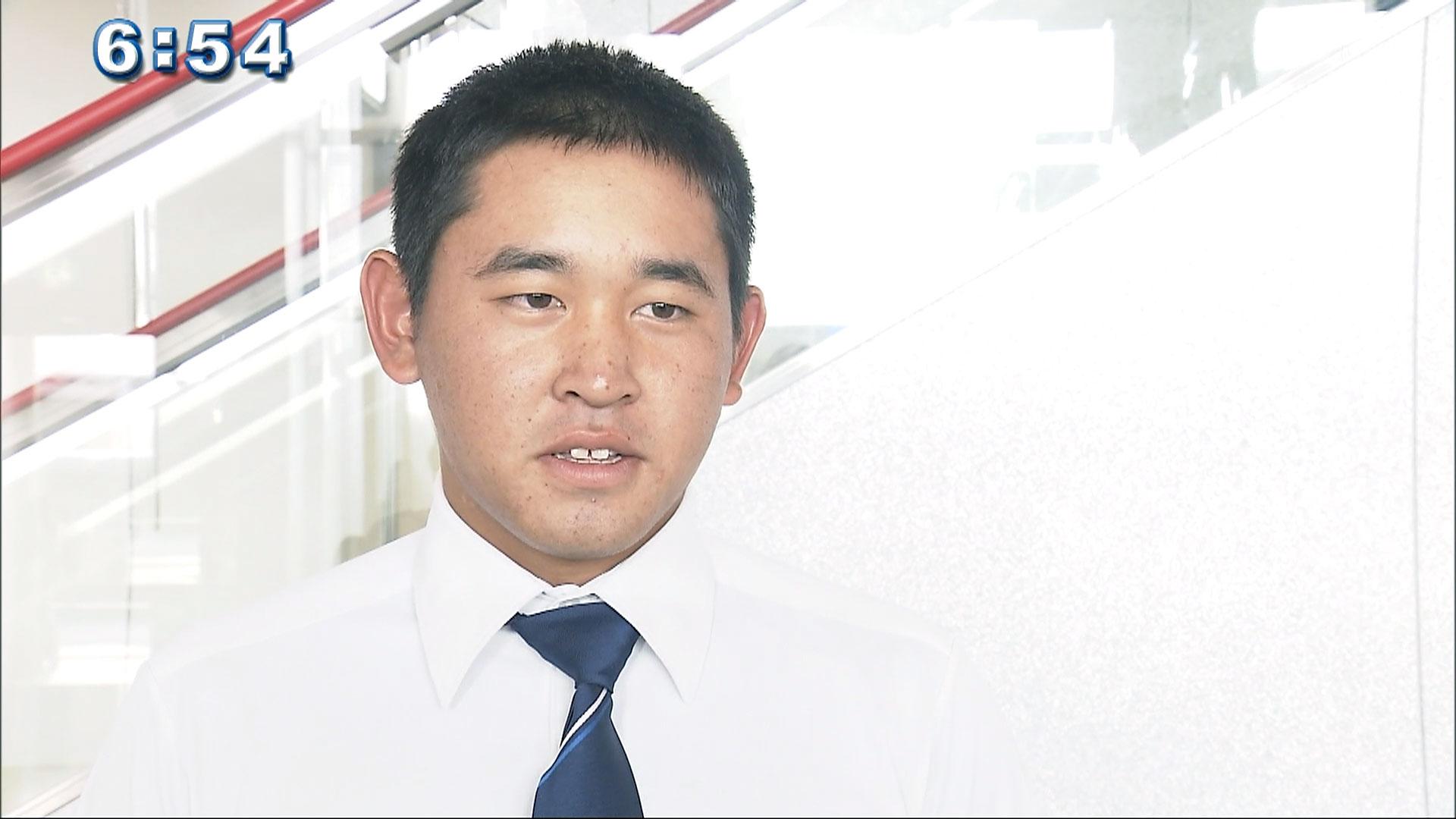 U18日本代表 興南宮城大弥選手が帰沖