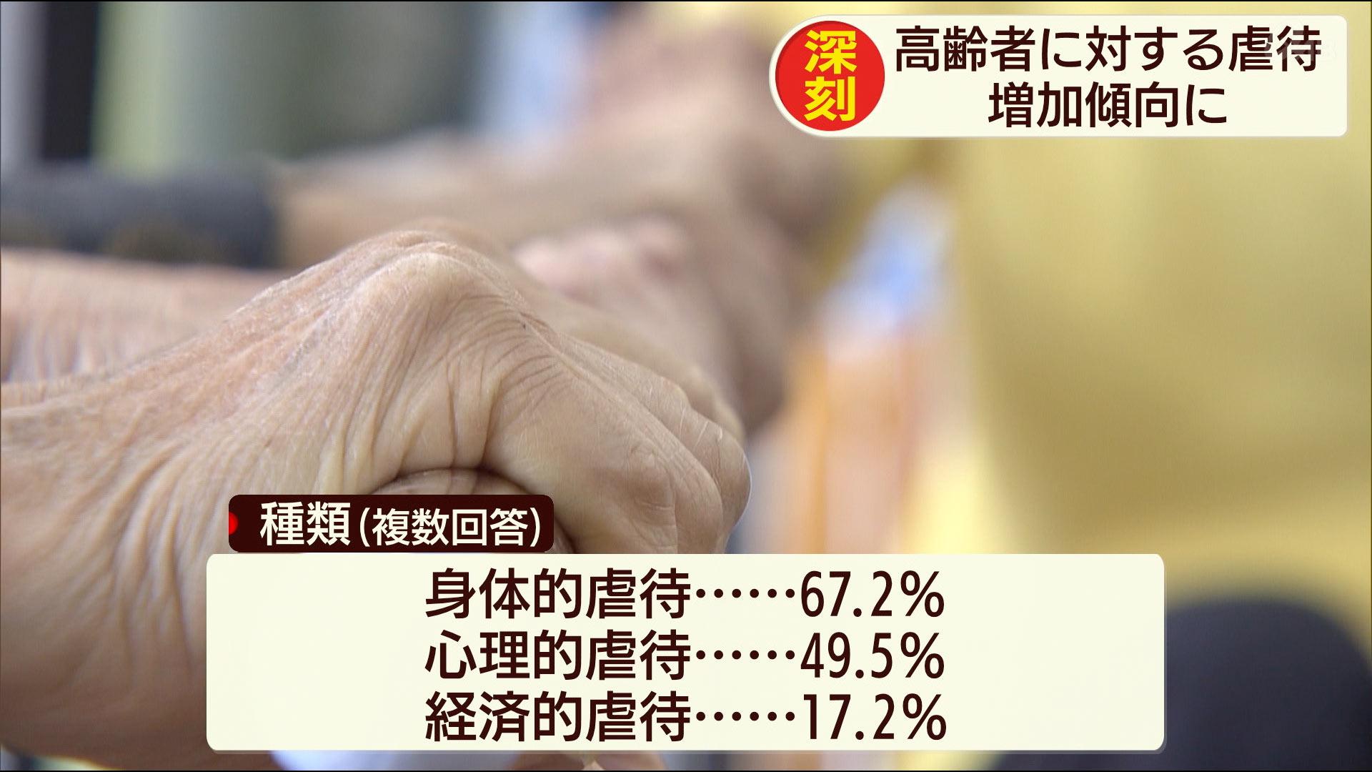 高齢者虐待194件 年々増加傾向に