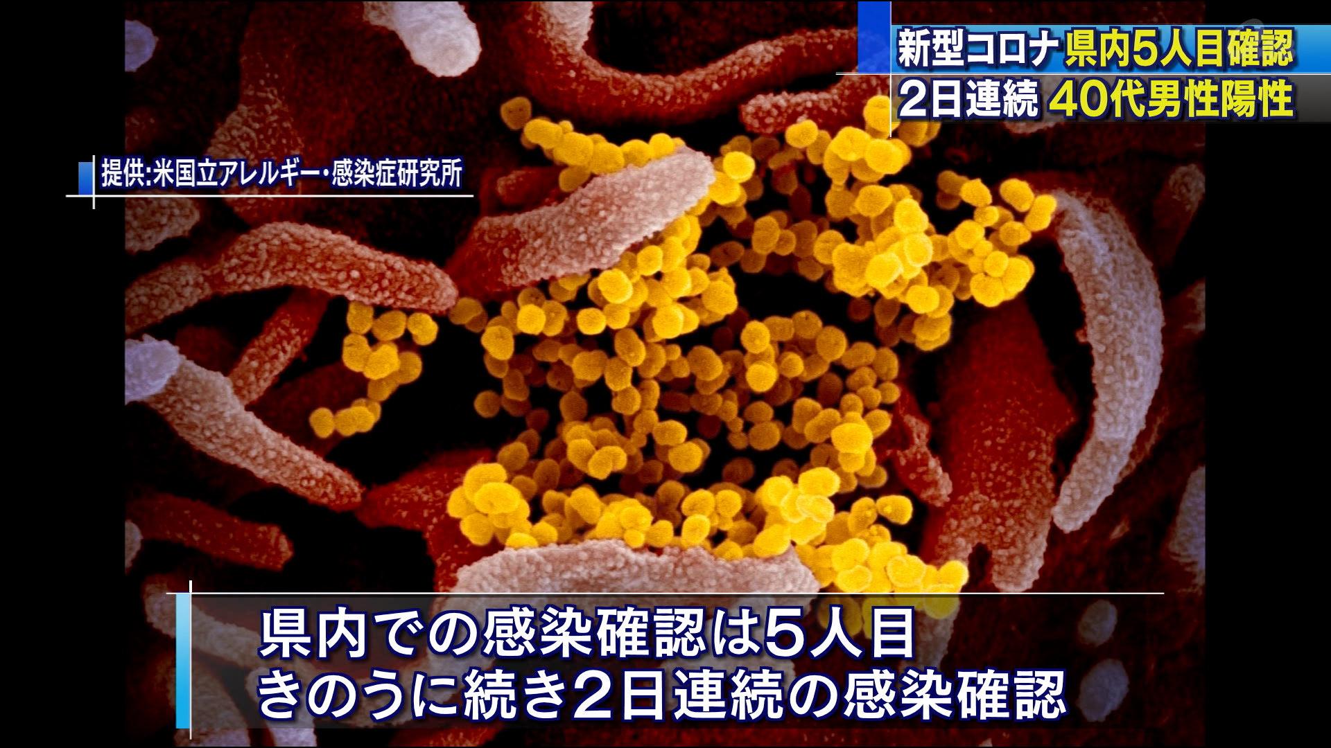 新型コロナ 新たに40代男性1人の感染確認