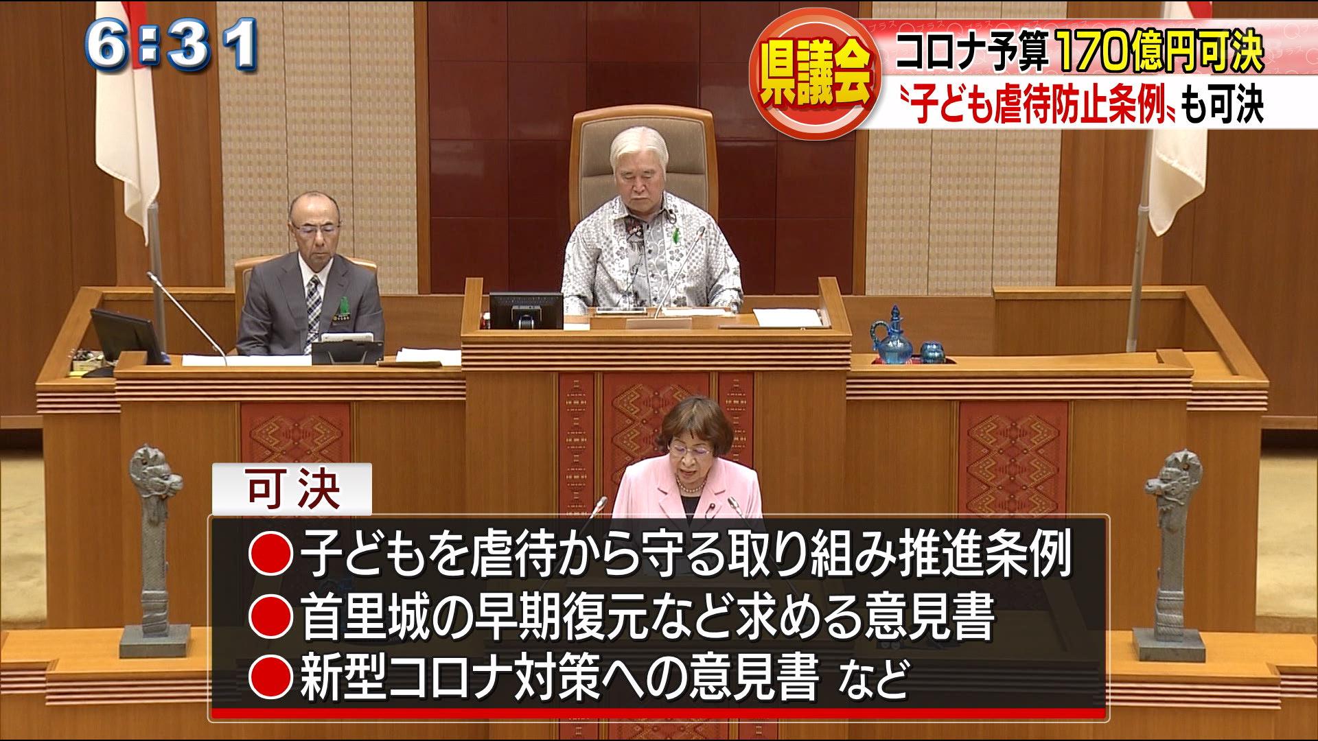 県議会最終本会議 来年度予算などが可決