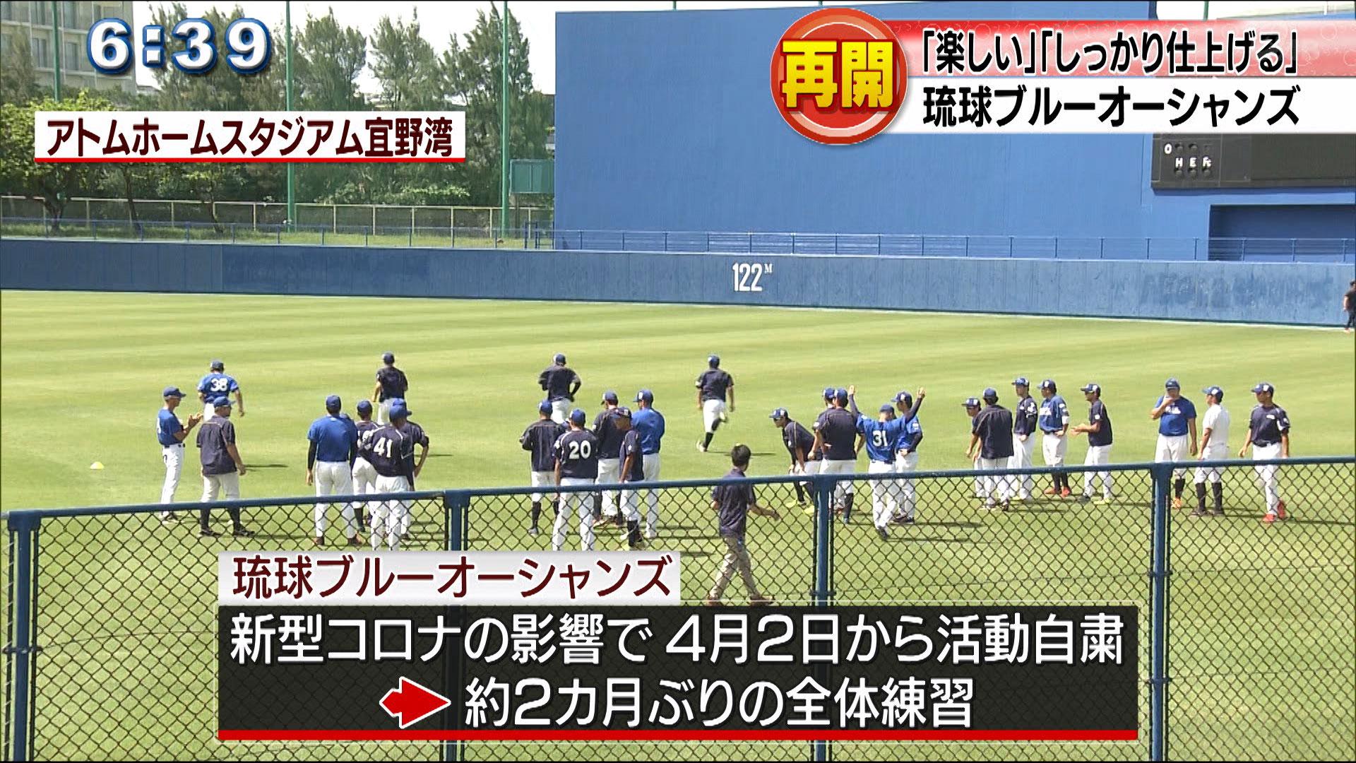 琉球ブルーオーシャンズが全体練習再開