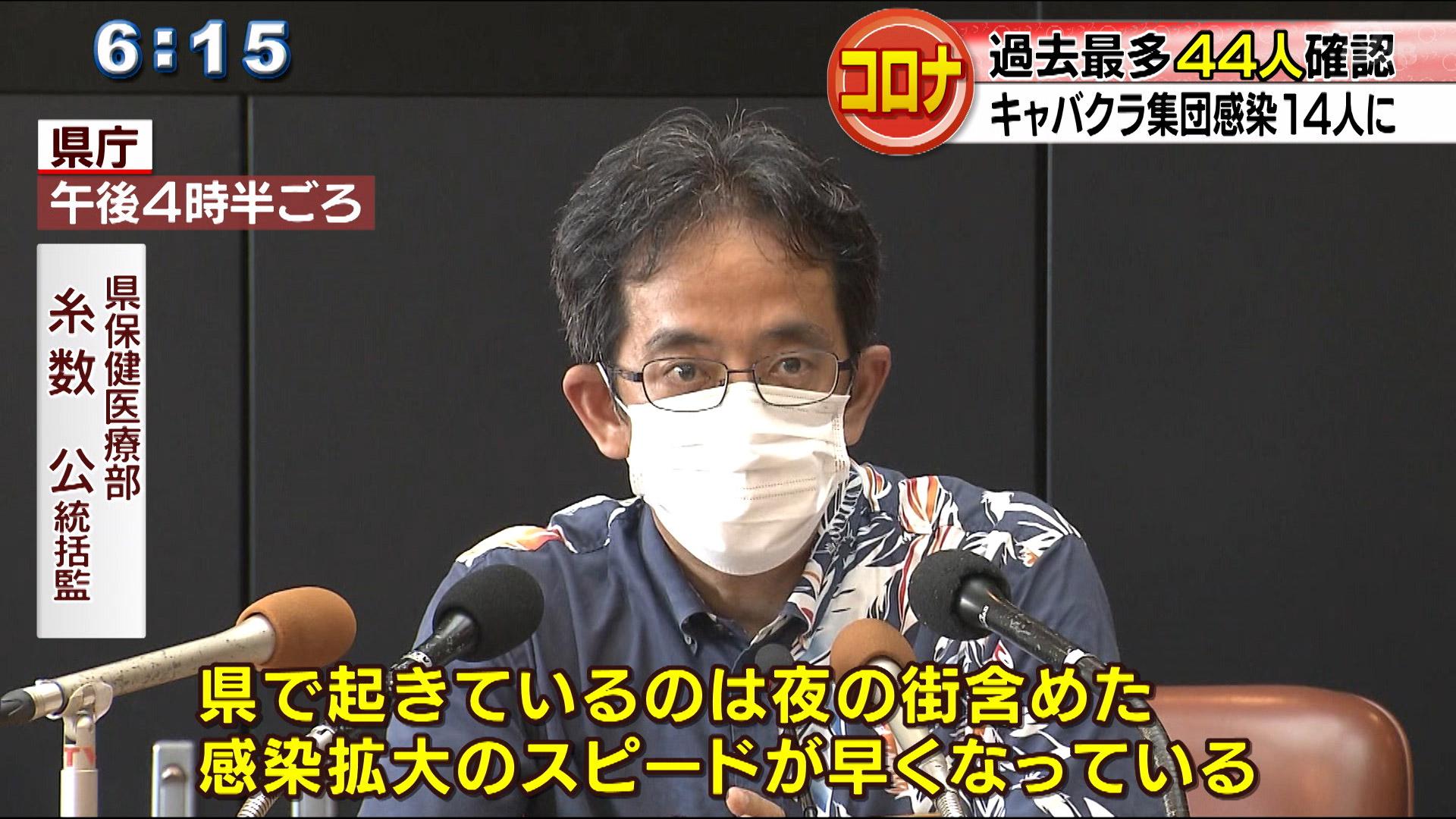 県内感染者44人過去最多