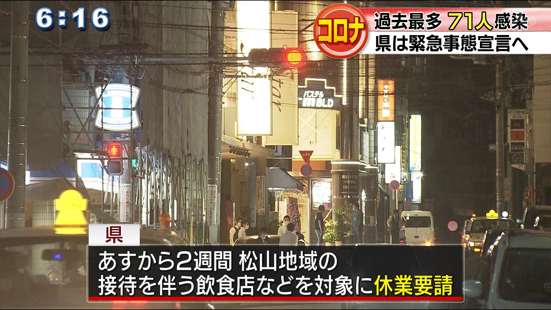 過去最多71人 県は緊急事態宣言へ