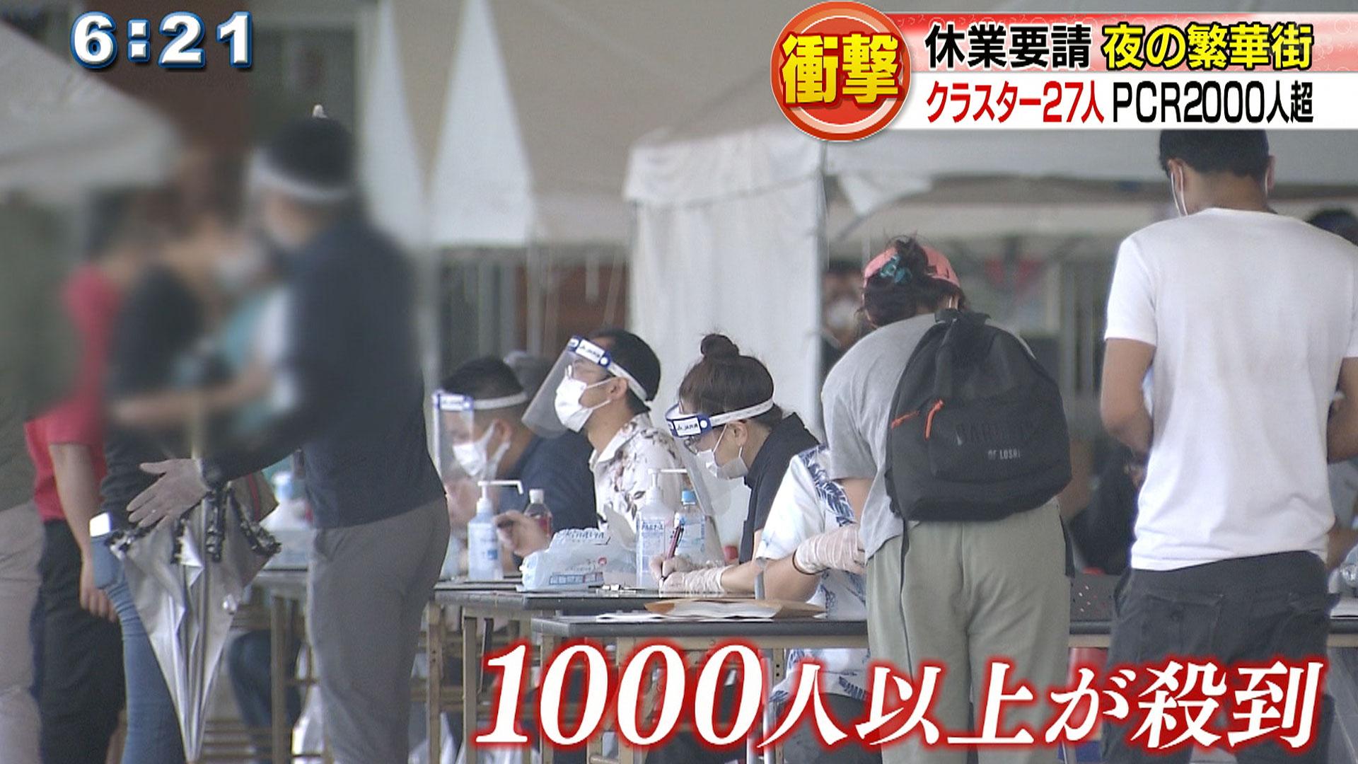 夜の繁華街・松山 PCR検査に2000人殺到