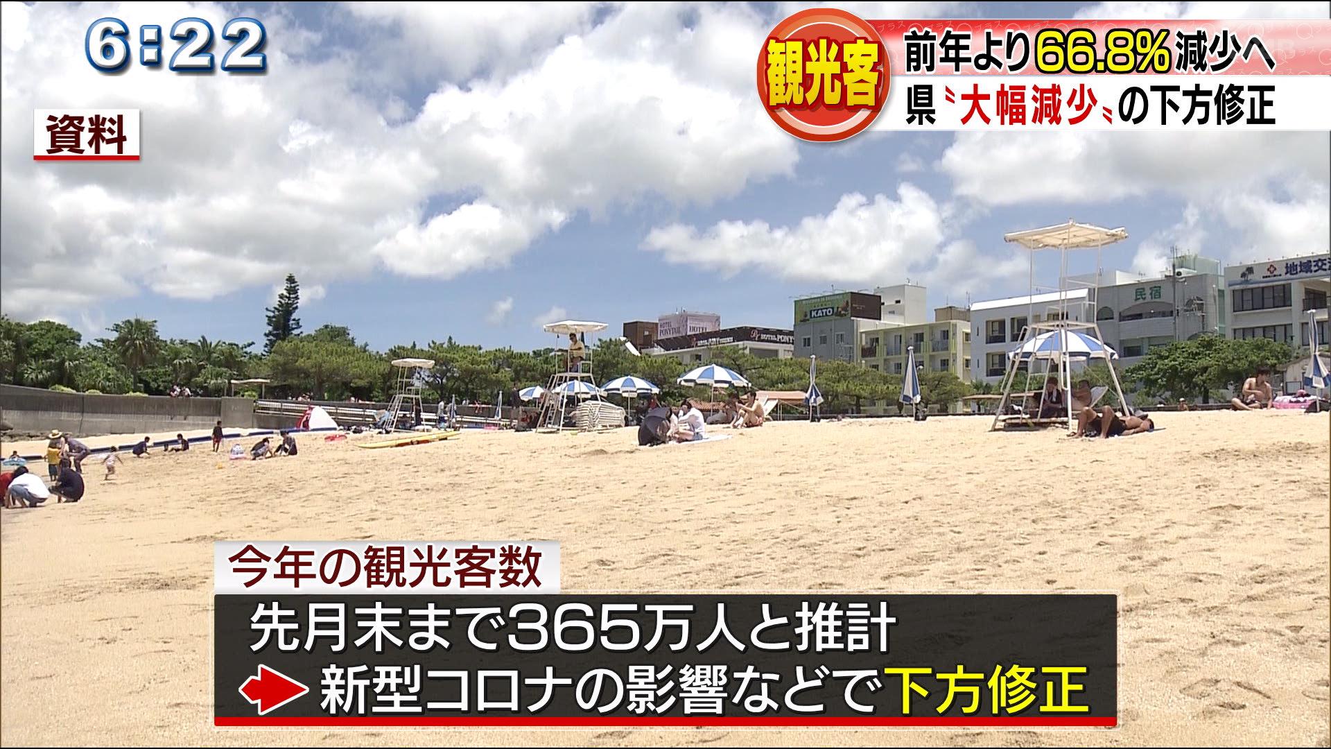 去年より大幅減の観光客 県の対応は?