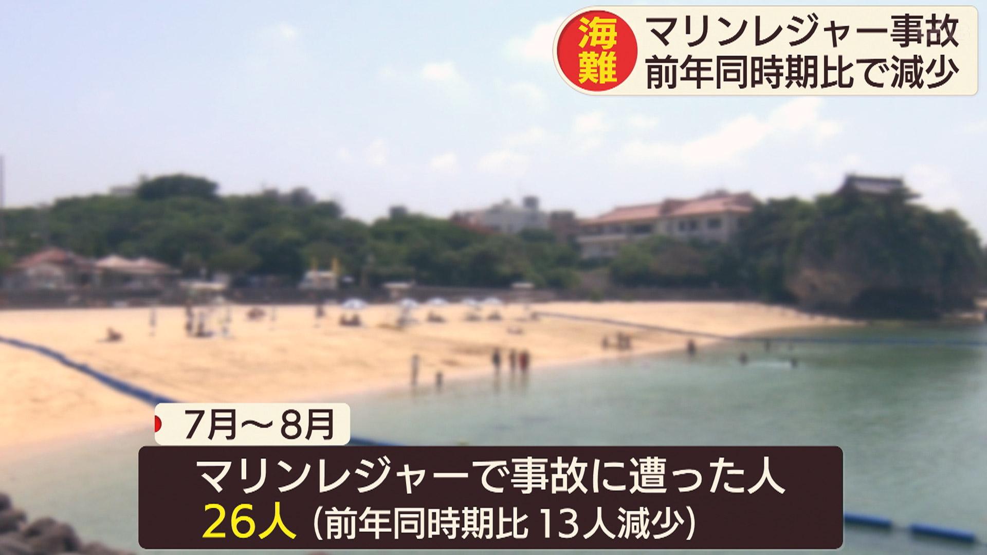 海の事故 前年同時期に比べ減少