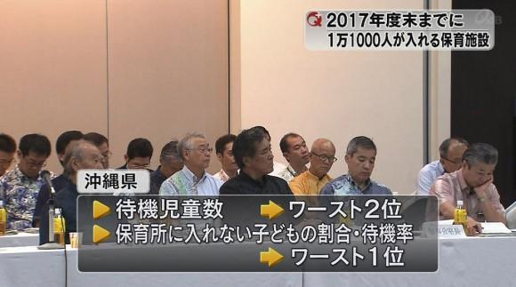 沖縄振興拡大会議 待機児童の解消目指す
