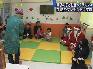 入院中の子どもたちにもクリスマス