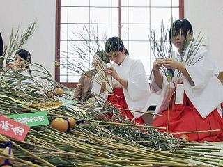 新年を前に福笹作り