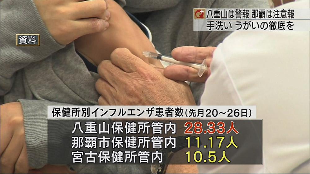 インフルエンザがまた流行