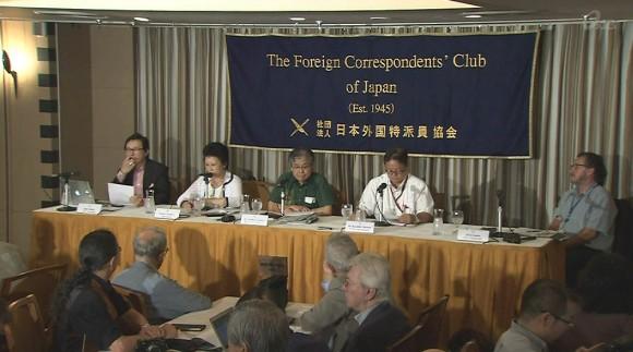 沖縄タイムスと琉球新報が外国特派員協会で会見