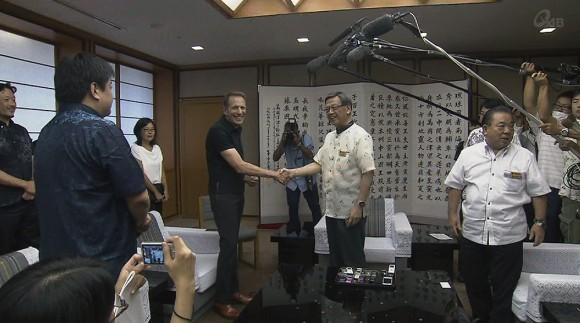 「ウィンウィンの関係で」USJ沖縄進出に知事期待