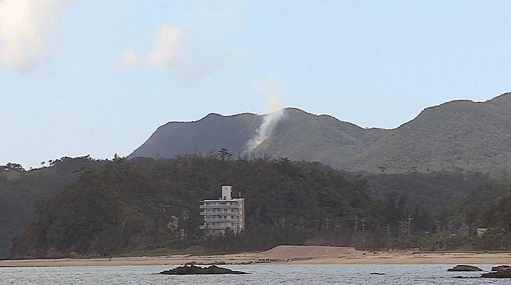 キャンプシュワブで山火事