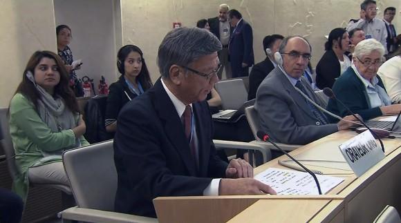 翁長知事 国連で「人権がないがしろにされている」