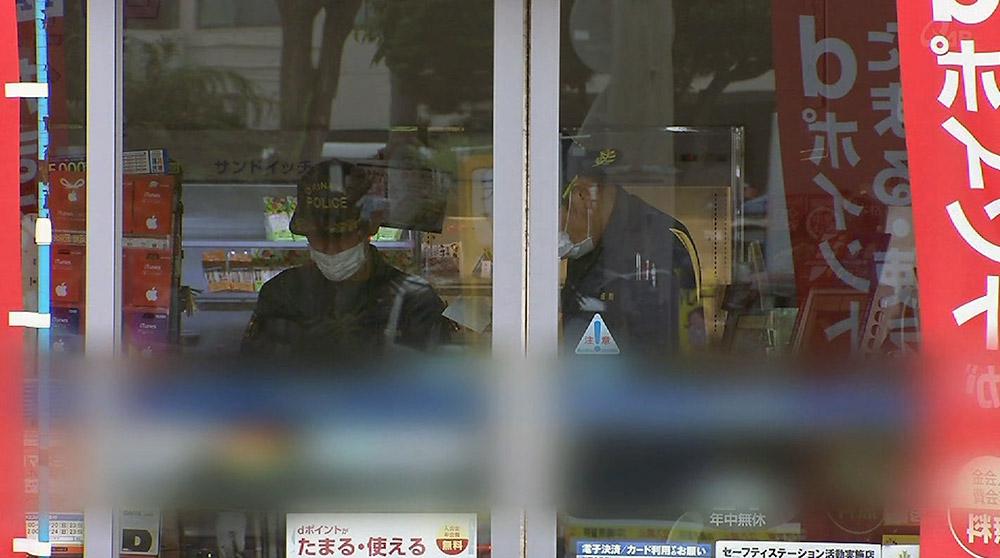 宜野湾でコンビニ強盗