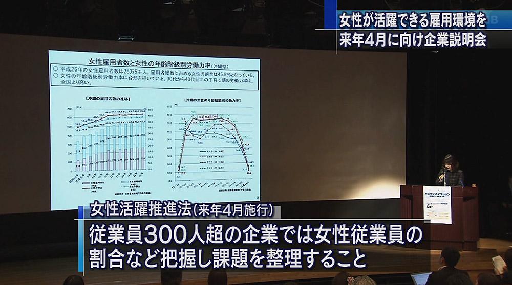 女性活躍推進法 4月施行に向け県内説明会