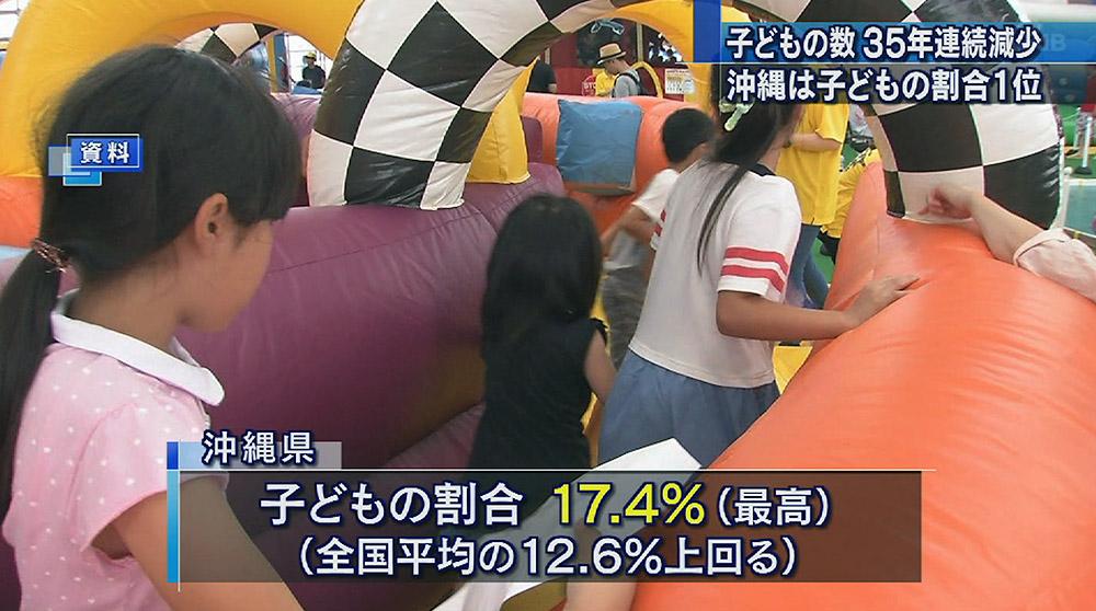 子どもの割合 沖縄1位
