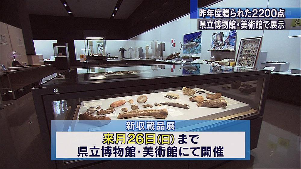 県立博物館・美術館新収蔵品展始まる