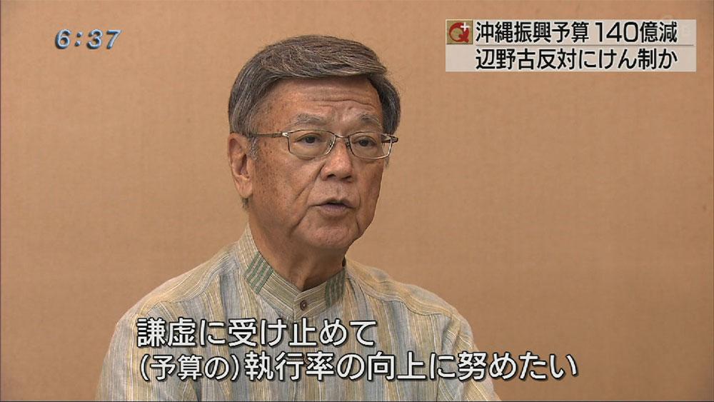 沖縄振興3210億円 4.2%減で要求