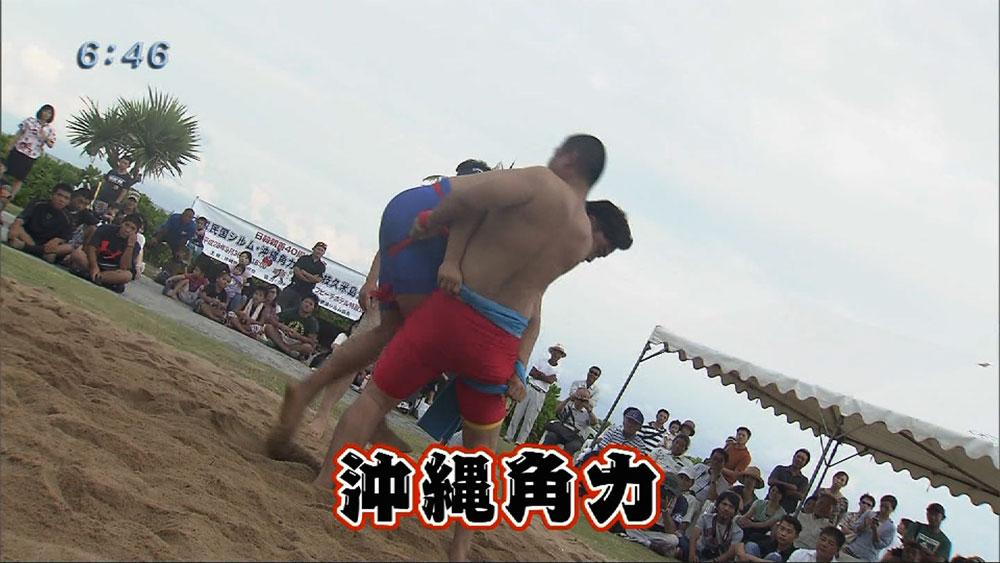 Q+スポーツ部 沖縄角力で日韓の絆深める