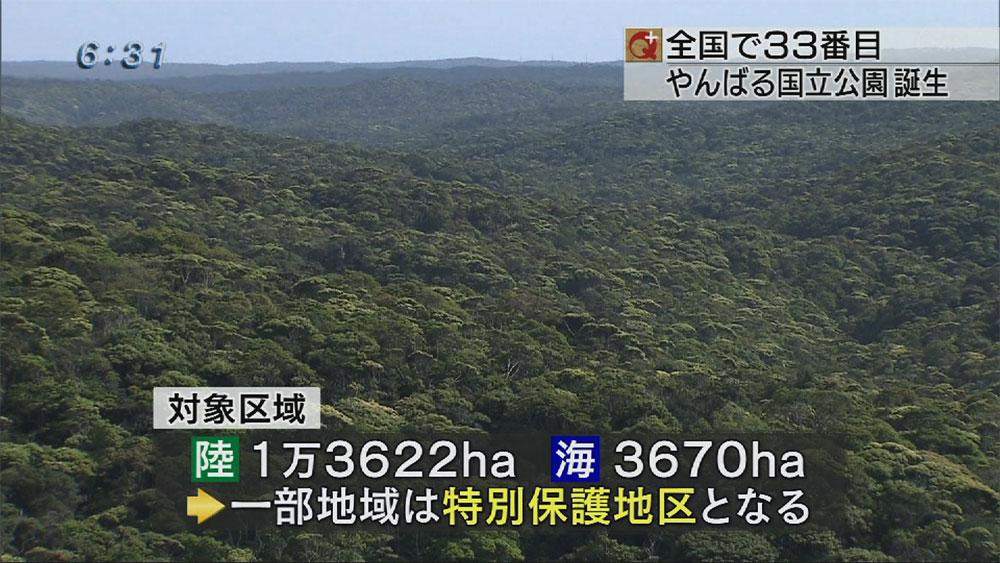 やんばるの森が国立公園に指定