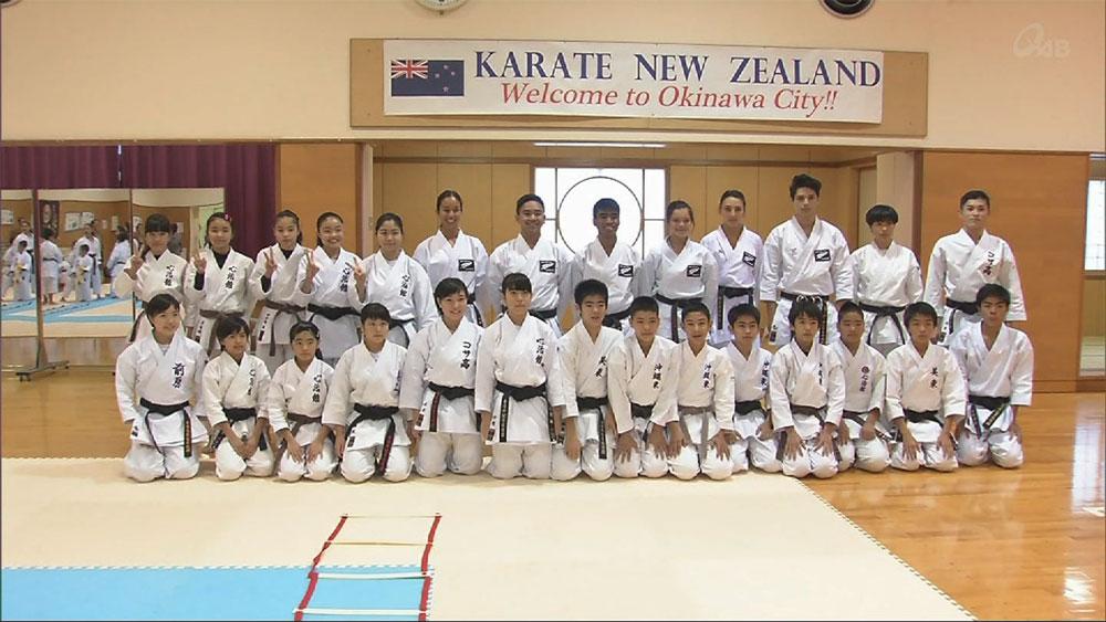 NZ空手代表チーム 五輪合宿を沖縄市で