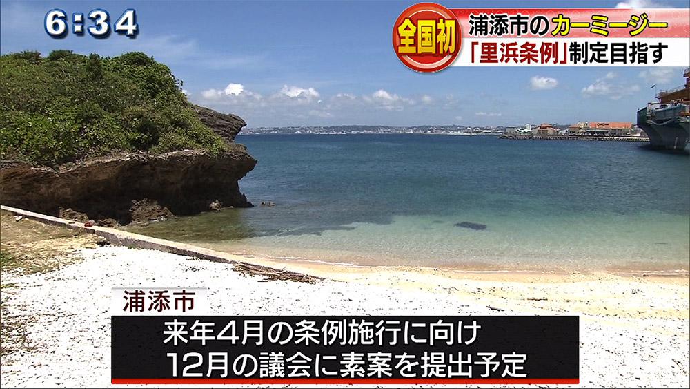 浦添市 全国初「里浜条例」策定へ