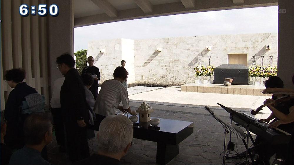 戦没者墓苑で盆供養祭