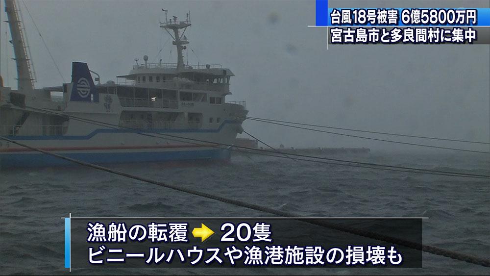台風18号農林水産被害6億5800万円