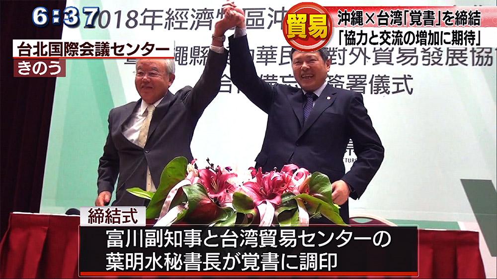 県と台湾貿易センター 貿易で覚書を締結