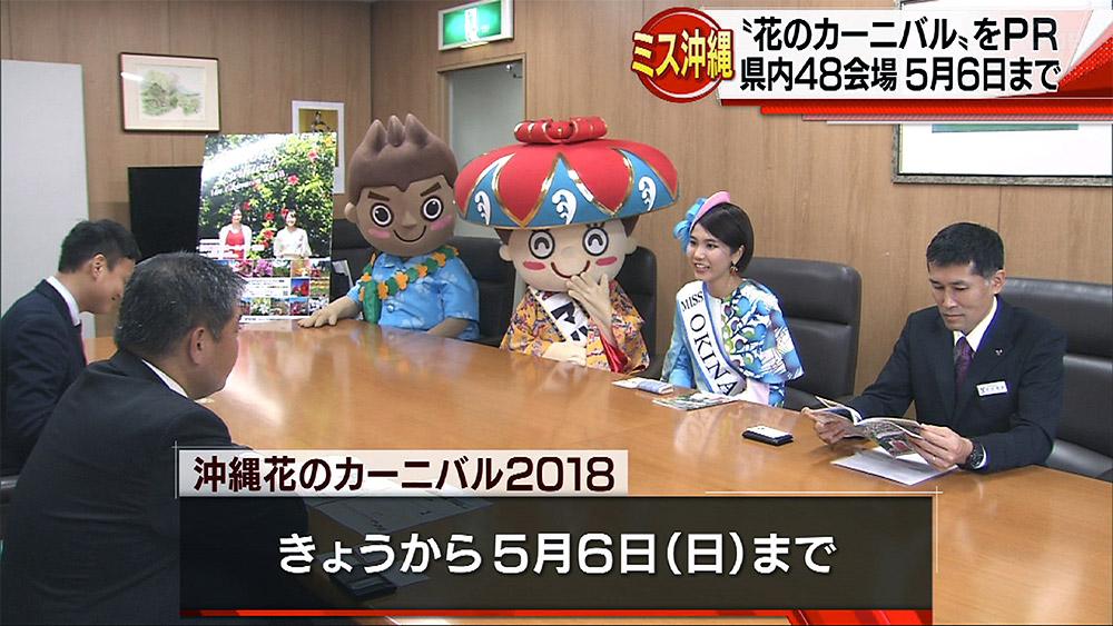 ミス沖縄が「花のカーニバル」をPR