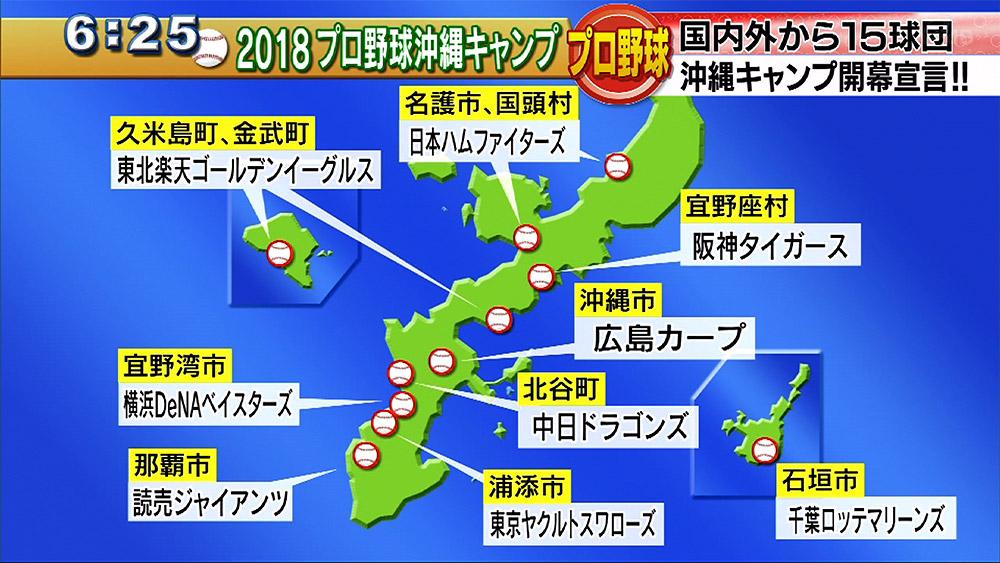 プロ野球沖縄キャンプ開幕宣言