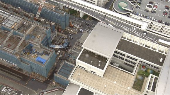 連結ターミナル事故 現場で工事が始まる