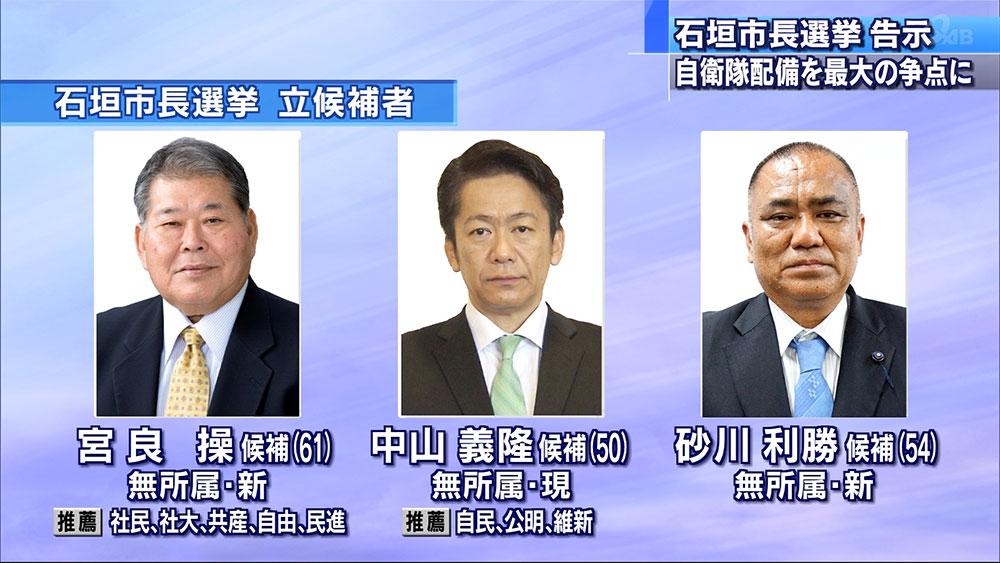 石垣市長選挙告示