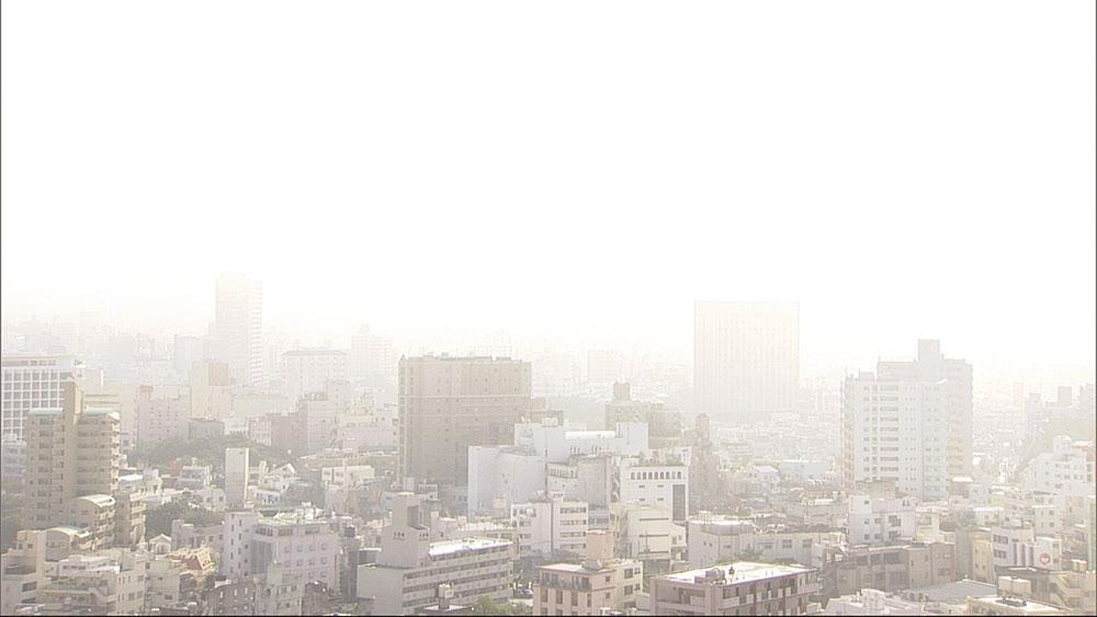 沖縄本島各地で濃霧