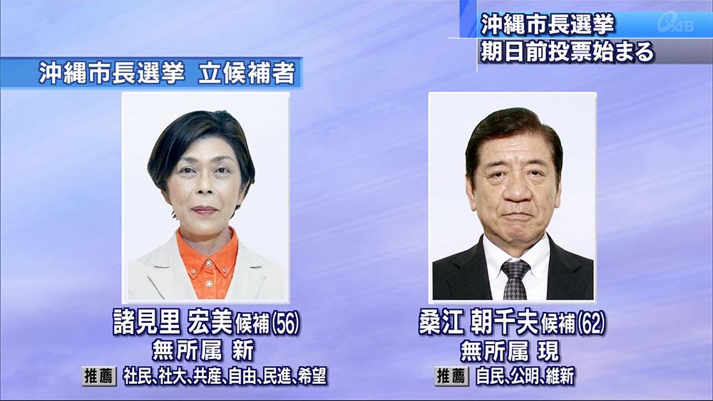 沖縄市長選挙 期日前投票が始まる