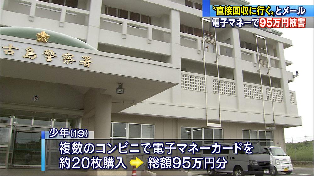 電子マネー支払わせる架空請求詐欺で95万円被害