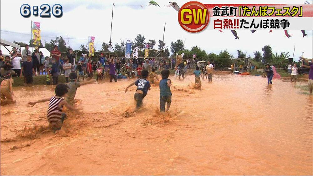 たんぼフェスタ 子どもたちが泥だらけで遊ぶ
