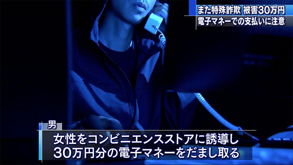 電子マネーの架空請求詐欺30万円被害
