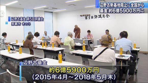 辺野古基金 6億5900万円