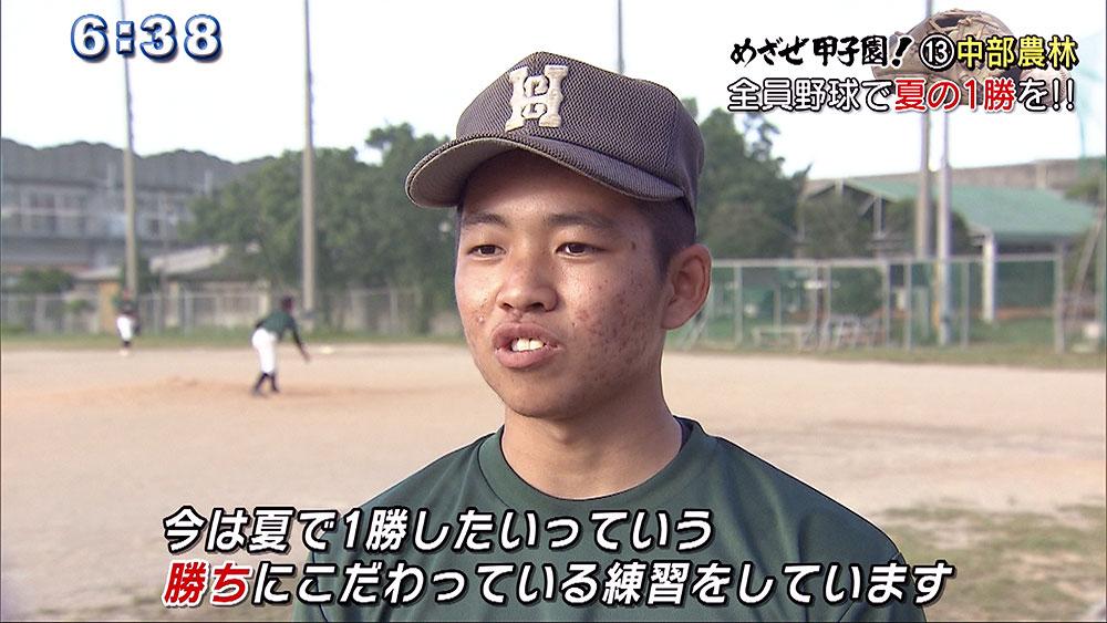 めざせ甲子園!(13) 中部農林