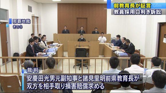 名誉棄損裁判、安慶田と諸見里尋問