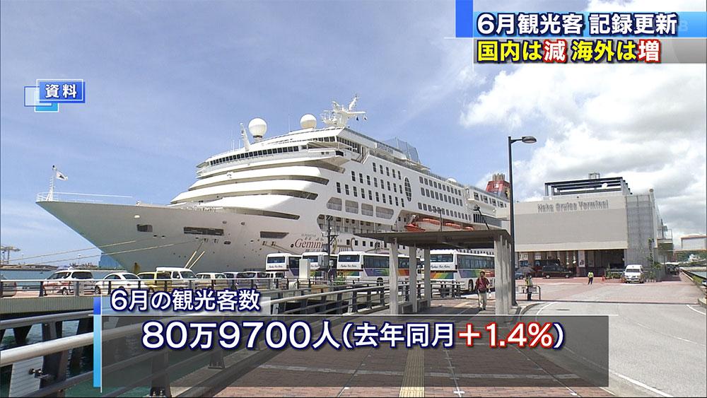 6月過去最高を記録 観光入域客数