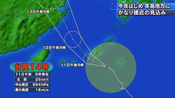 台風14号情報
