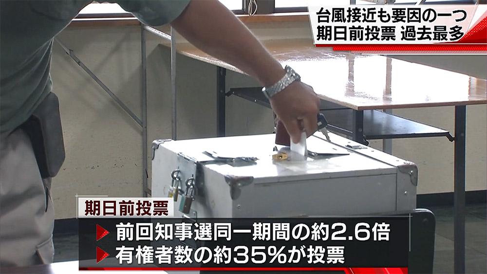 知事選 期日前投票 過去最多